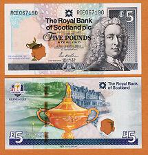 Scotland 2014 Ryder Cup Commemorative 5 Pounds Hybrid Plastic GEM UNC
