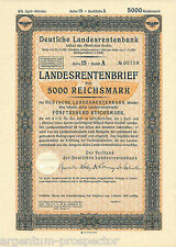 German National Pension Bank (Berlin) Loan bond - 5000 Reichsmark - 1939