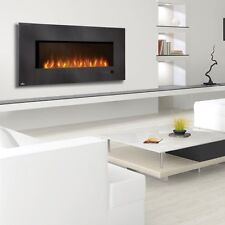 Napoleon EFL48H Electric Modern Wall Hanging Fireplace with Heater & Remote
