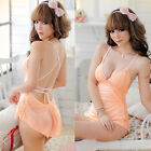 Hot Ladies Bandage Lace Babydoll Nightdress Sexy Sleepdress Underwear 7088