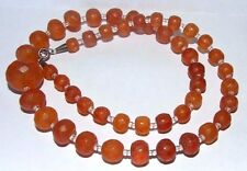 ANTIQUE ART DECO FACETED BALTIC HONEY AMBER NECKLACE. 23.6 GRAMS. SILVER CLASP.