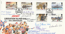 Jersey FDC 50th Anniv Liberation Full set Signed 9   9th May 1995  Jersey