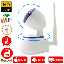 Single HD wifi IP camera with SD card slot & Pan tilt with 355 degree rotation.