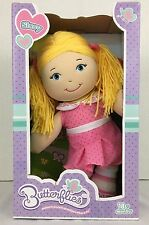 Cracker Barrel Butterfly Doll Sissy Cloth Plush Doll Blonde Blue Discontinued