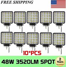 10Pcs 48W Spot LED Off road Work Light Lamp 12V 24V JEEP boat Truck Driving Lamp