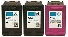 3PK For HP #61 XL Black/Color Ink ENVY 4500 4501 4502 5530 5531 5535 CH563/4WN