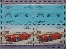 1973 PONTIAC FIREBIRD TRANS AM Car 50-Stamp Sheet Auto 100 Leaders of the World