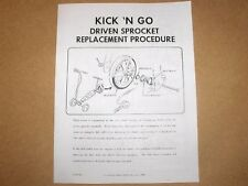 Honda Kick N Go   Service Manual    Owners Brochure    Scooter
