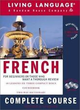 FRENCH : COMPLETE COURSE by Living Language - 3 CD SET w/ 40 Lessons & BOOK