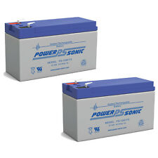 Power-Sonic 2 Pack - 12V 9AH SLA Battery Replaces CP1290 6-DW-9 HR9-12 PS-1290F2