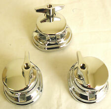 NEW 3 Chrome Round Top Floor Tom Leg Bracket Mounts for Floor Tom Drum Set Kit