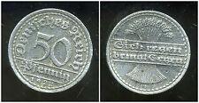 ALLEMAGNE 50 pfennig  1922 F