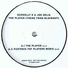 "SCHOOLLY D & JOE DELIA - The Player (Theme From Blackout) (12"") (Promo) (VG+/NM)"