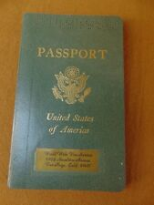1971 US PASSPORT Expired Cancelled 20 PAGES of VISA STAMPS Africa Hong Kong +