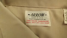 NOS Arrow Loop Collar Rayon Shirt Vtg Time Saver Garbardine sz 16-34 L-XL NWOT