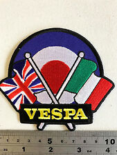 Vespa Flags/Target Patch  - Embroidered - Iron or Sew On