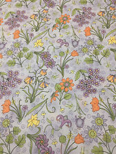 Debbie Mumm Whimsical Floral Cotton Fabric Quilt Sew OOP 1.38 Yards