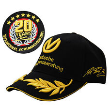 NEW BLACK F1 FORMULA ONE 1 MICHAEL SCHUMACHER 20TH YEARS SIGNED BASEBALL HAT CAP