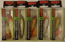 Lot of 5 New & Different Rapala X-Rap XR-8 Crankbait Fishing Lures (TCT)