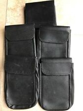 """1 X Ex Police Leather Document Pouch For 2"""" Kit Belt."""