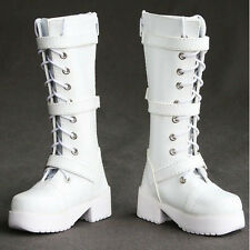 [wamami] 16# White 1/4 MSD DZ DOD BJD Dollfie Synthetic Leather Boots/Shoes