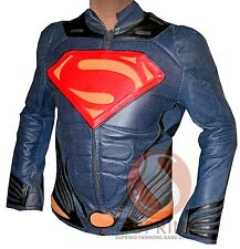 New Men's Handmade Superman Motorcycle Leather Jacket with CE armors - All Sizes