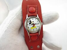 MICKEY MOUSE, Disney, Unique 60's Band, KIDS CHARACTER WATCH,1170,L@@K