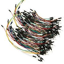 New 130pcs Male to Male Solderless Flexible Breadboard Jumper Leads Cable Wires
