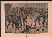 Ouvriers CGT Grêves de Brest Soldiers Dragoons Dragons France 1905 ILLUSTRATION