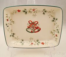 """Pfaltzgraff WINTERBERRY Individual Dipping Tray 8 1/4"""" x 6 3/8"""" EXCELLENT"""