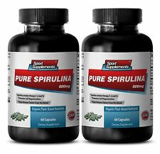 Organic SPIRULINA 500mg 100% Plant-Based Dietary Powder Nature Vitamin-D  2Bot