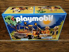 Vintage RETIRED PLAYMOBIL 3018 SEALED Adventure Expedition Jeep Figures Year '98