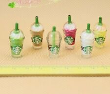 1:12 Dollhouse Miniatures 6pcs Starbucks ice cream cups Lovely Gift Xmas Gift to