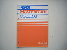 GKN Masterparts COOLING Water Pump Rad caps Thermostats catalogue March1982