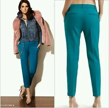 NWT $169 GUESS by Marciano Melanie Ankle turquoise Pant size 4