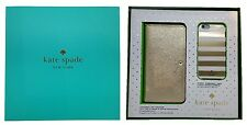 "Kate Spade New York Gift Set Box iPhone 6 & 6S 4.7"" Gold Wristlet & Stripes Case"