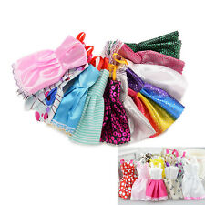 "10Pcs Fashion Handmade Dresses Clothes For 11"" Barbie Doll Style Random"