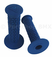 AME old school BMX ROUNDS bicycle grips - BLUE *MADE IN USA*