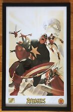 Marvel THE AVENGERS #4 Framed Print Lithograph Signed ALEX ROSS Captain America