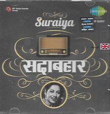 SURAIYA - SADABAHAR - NEU SARE GAMA BOLLYWOOD FILM CD SONGS