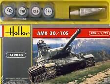 Heller AMX 30/105 Tank Modell-Bausatz + Farbe Pinsel Kleber 1:72 kit Panzer NEU