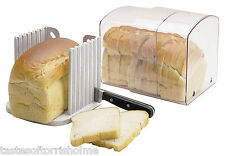 Kitchen Craft Vented Expanding Fresh Bread Keeper Bin Box & Loaf Slicing Guide