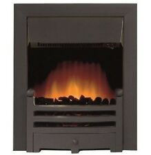 ELECTRIC BLACK MATTE REMOTE CONTROL FIREPLACE LED FLAME INSERT INSET FIRE 2kW