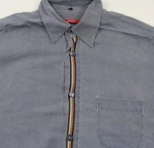 Tc5600 el ocio Signum-camisa azul jeans marrón de manga Larga talla L como nuevo