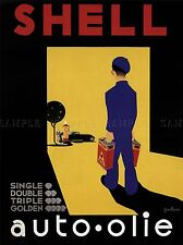 SHELL OIL NETHERLANDS ADVERTISING POSTER RETRO WALL ART PICTURE 1492PYLV