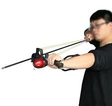 NEW Freshwater Fishing Reels Slingshot Bow Arrow Rest Catapult Hunting Slingbow