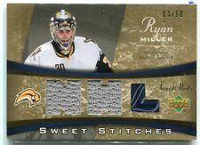 2006-07 Sweet Shot Sweet Stitches Duals RM Ryan Miller Dual Jersey 3/50