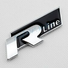 Silver Vehicle Decal Emblems Badge 3D Sticker VW R Line Symbol Sign Accessories