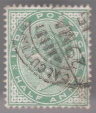 India Half Anna 1882-90 Used Postage Stamp - Victoria Green
