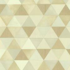 Graphics Alive Modern Geometric Triangles Cream and Beige Wallpaper 13267-10